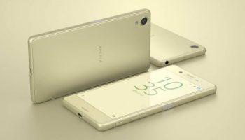 Das Sony Xperia X in Gold
