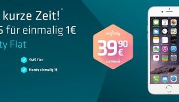 Das iPhone 6 für nur 1 Euro mit der simfinity Flat inklusive 2GB Datenflat nur 39,90 Euro monatlich