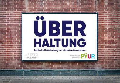 Plakatmotiv aus der PΫUR-Startkampagne