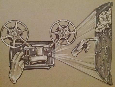 {movie projector} day 116