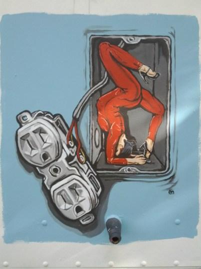 crawling walls mural