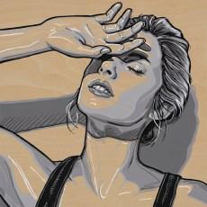 *SOLD She Faint 10x10 Acrylic on birch panel