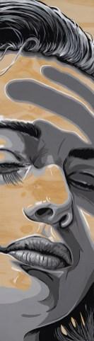 "*SOLD She Illuminated 13x48"" Acrylic on birch paneled canvas"