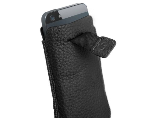 Samsonite Slim Classic Leather Sleeve Handytasche (iPhone 5) basalt black
