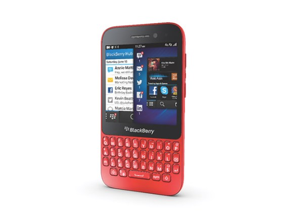 BlackBerry Q5 orange