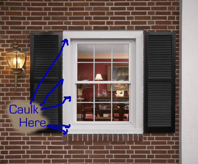 How to caulk windows and where to caulk windows - Wood filler or caulk for exterior trim ...