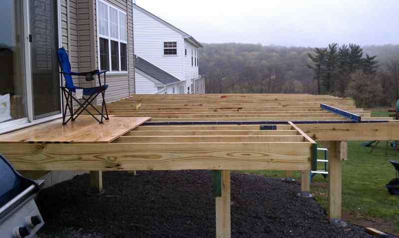 Free Standing Above Ground Swimming Pools: Building A Freestanding Deck