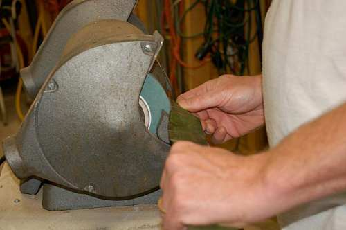 Mower maintenance includes blade sharpening