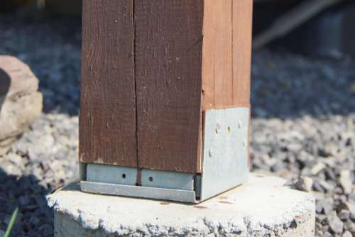 Deck Post on Concrete Footer