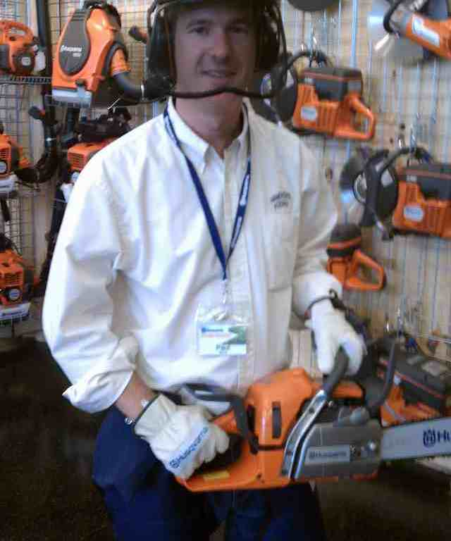 Handyguy Paul with Chainsaw Safety in mind