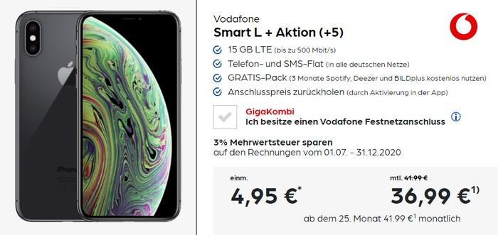 Iphone Xs Vodafone Smart L Plus Ab Eff 5 95 Mtl