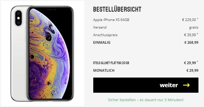 Apple Iphone Xs Otelo Allnet Flat Max Fur Eff 5 61 Mtl
