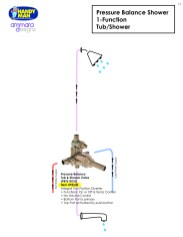 Ammara Valve 11, Pressure Balance Shower, 1 Function , Tub/Shower