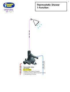 Ammara Valve 5, Thermostatic Shower, 1 Function