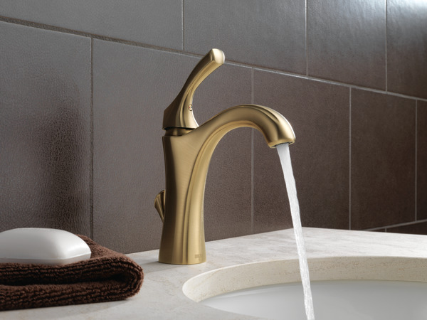 Single handle gold faucet