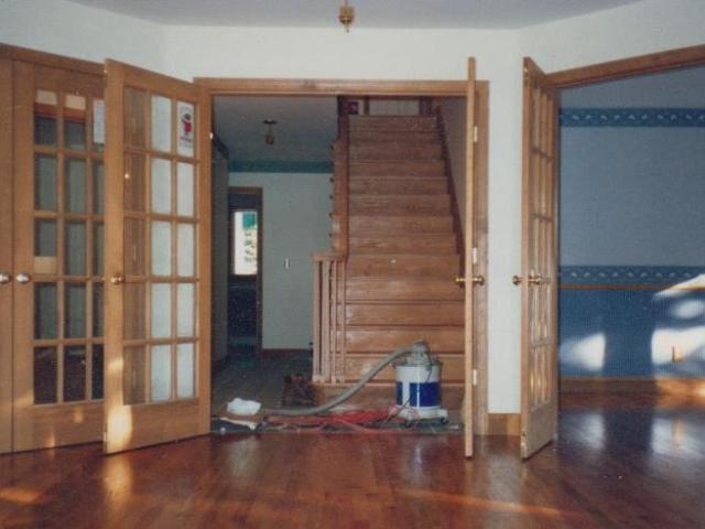 Oak Stairs French Doors