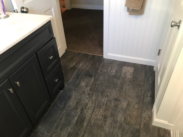 Bathroom Tile Floor Plank