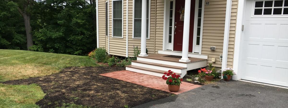 Concrete stair footing - Rebuilt walkway