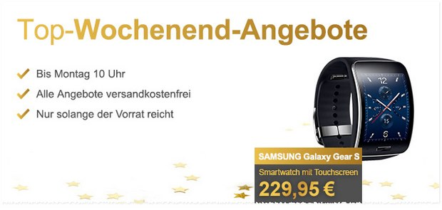 Samsung Galaxy Gear S bei Allyouneed