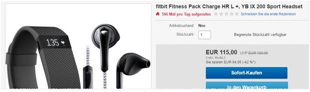 FitBit Charge + Sport-Headset
