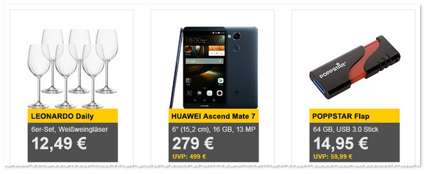 Huawei Ascend Mate 7 ohne Vertrag als Allyouneed-Tagesangebot