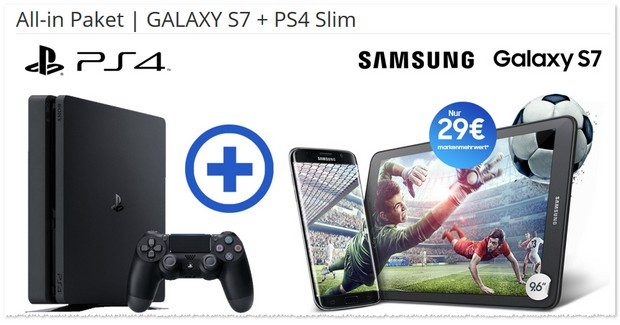 Magenta Mobil S + Samsung Galaxy S7 + Sony PS4 Slim im Bundle