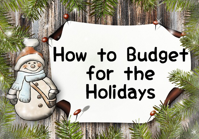 How to budget for christmas with snowman