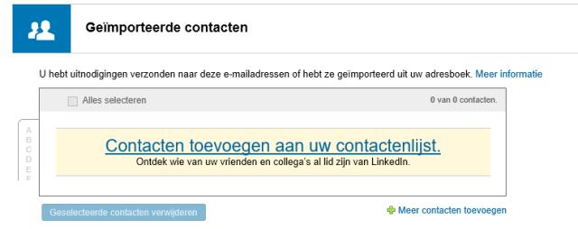 Linked Contacten verwijderen 5