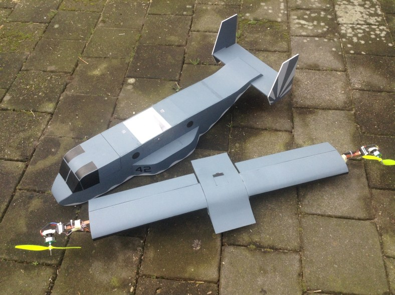 The V-22 Osprey VTOL V2 – Now with plans! (Updated with