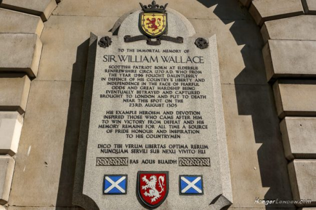 William Wallace Hung here in 1305 London