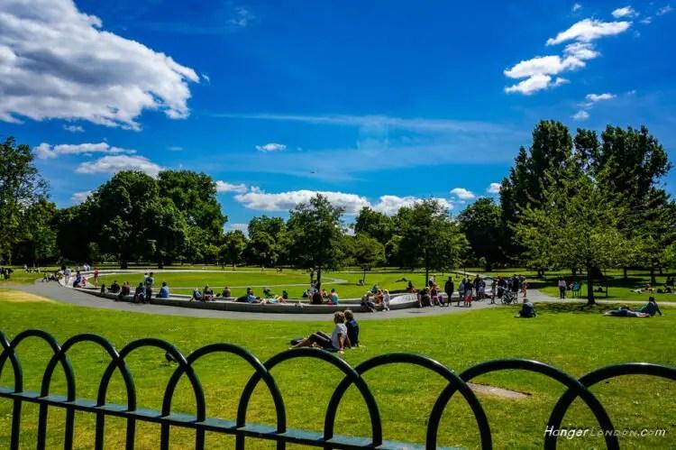 Princess Diana Memorial Fountain Summer