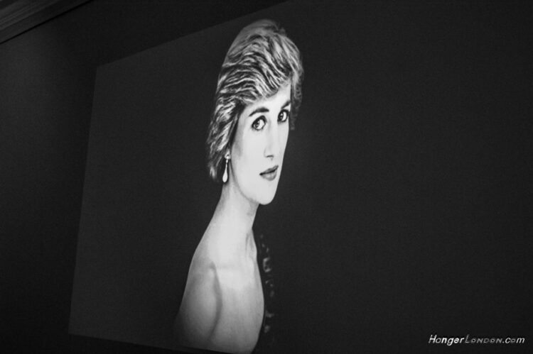 Princess Diana screen image BLack and white Her legacy lives on Kensington Palace exhibitions