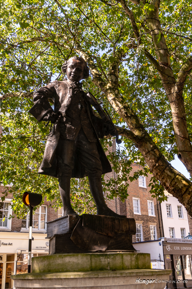 Mozart Statue Belgravia