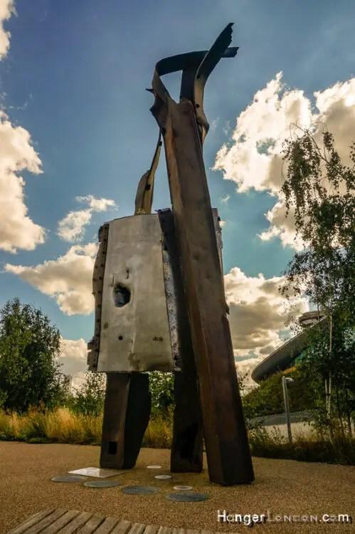 9/11 artwork memorial Stratford Olympic Park