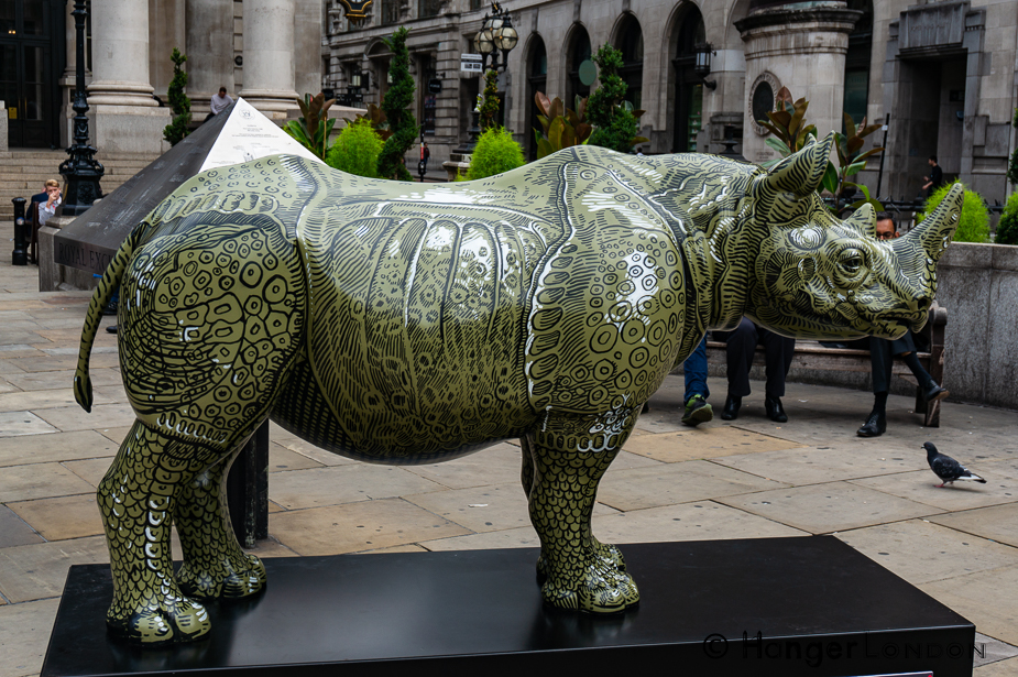 Rhino 21 A.D's Rhino By Artist Adam Dant