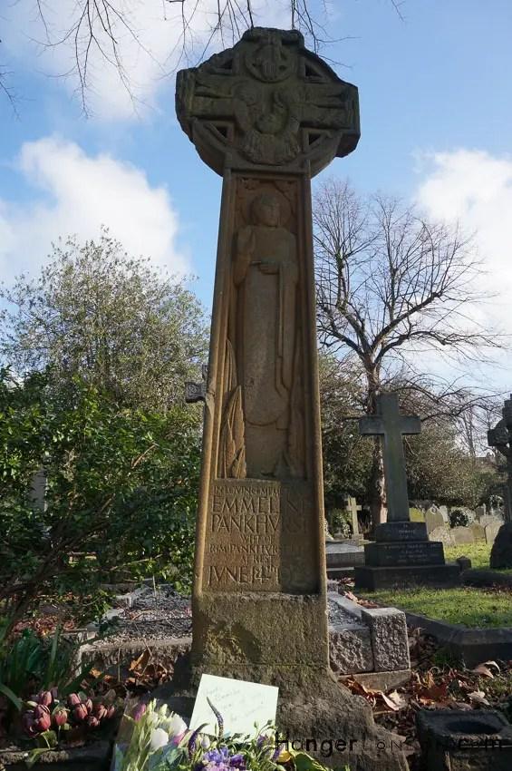 Pankurst Grave stone London Brompton Cemetery