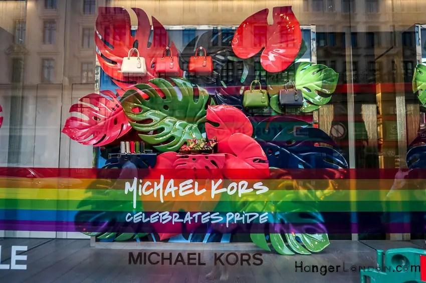 pride colours Kors shop winder summer London 2018