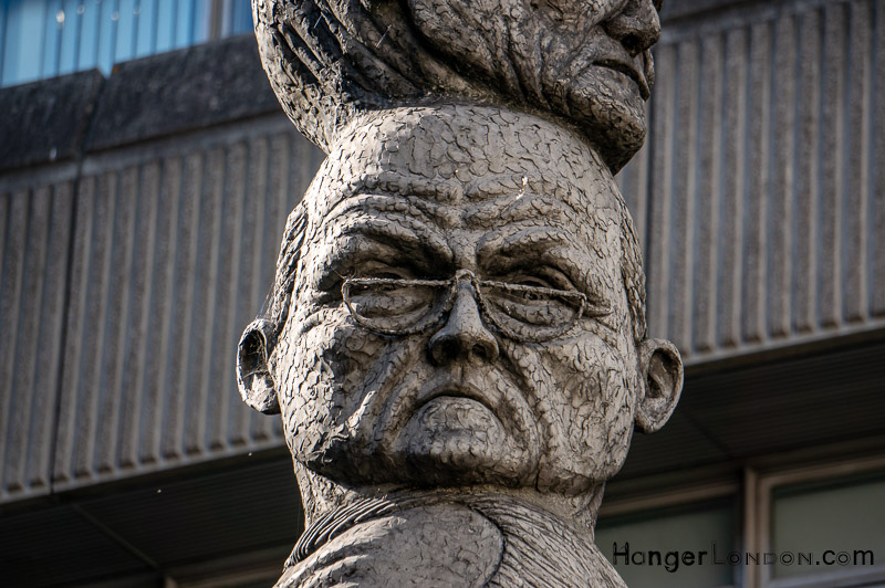 Artist Richard Kindersley The Seven Ages of Man Sculpture - Old Man