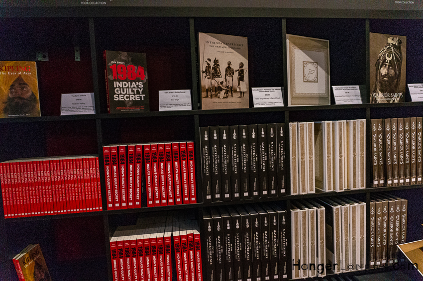 Empire of the Sikhs Exhibition Bookshop area Brunei Gallery