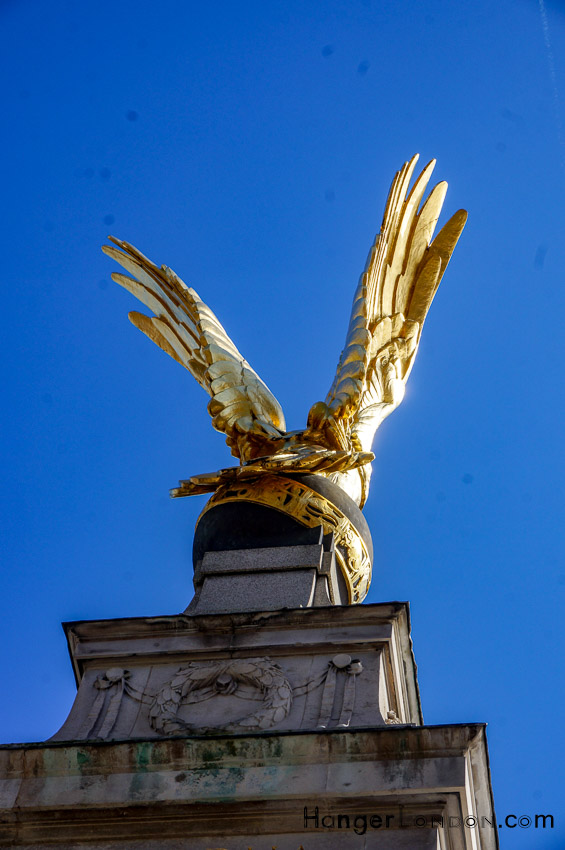 RAF memorial Eagle at the Embankment Thames London