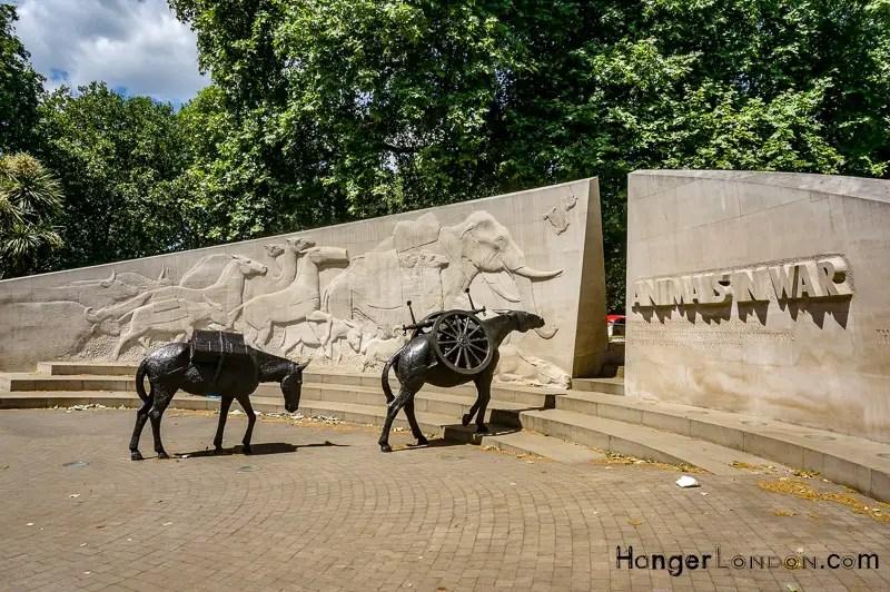 Animals in War memorial Near Hyde Park