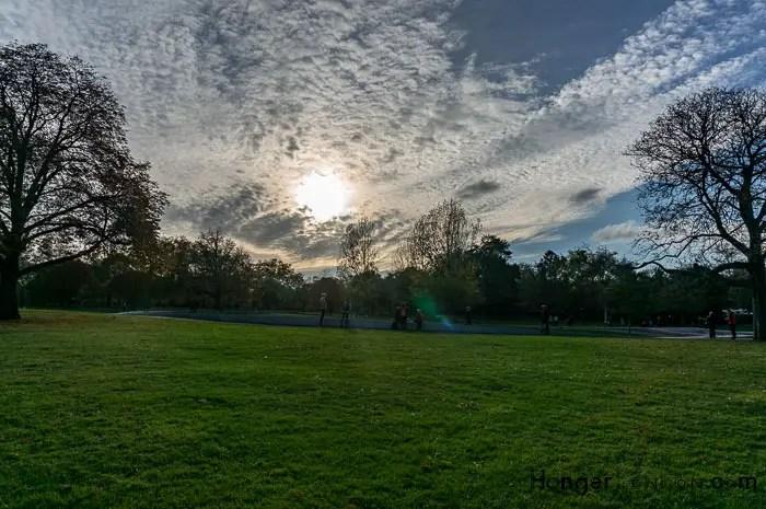 Hyde Park Autum sky