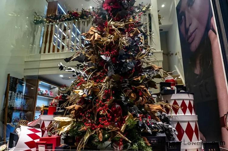Halcyon Days Royal Exchange Boutiques Christmas display