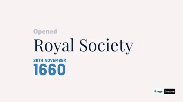 28th November 1660 The Royal Society Opens 1