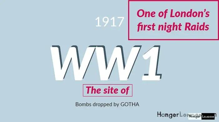 Early night raid by Gotha Bomber 1917