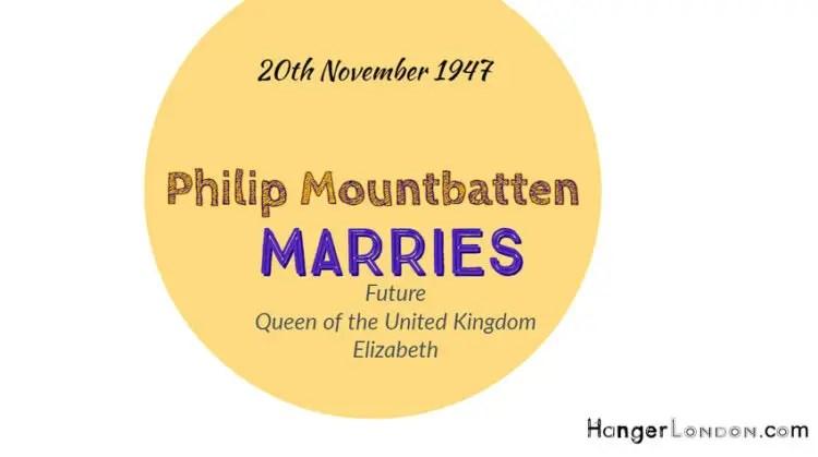 Future Queen Elizabeth Marries Philipe Mountbatten