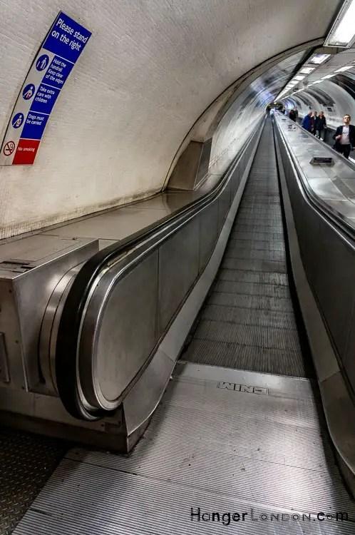 Travolator at Walbrook Bank Underground station