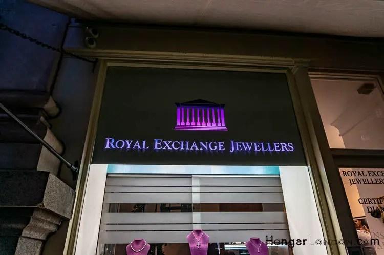 Royal Exchange Jewellers Rolex sign