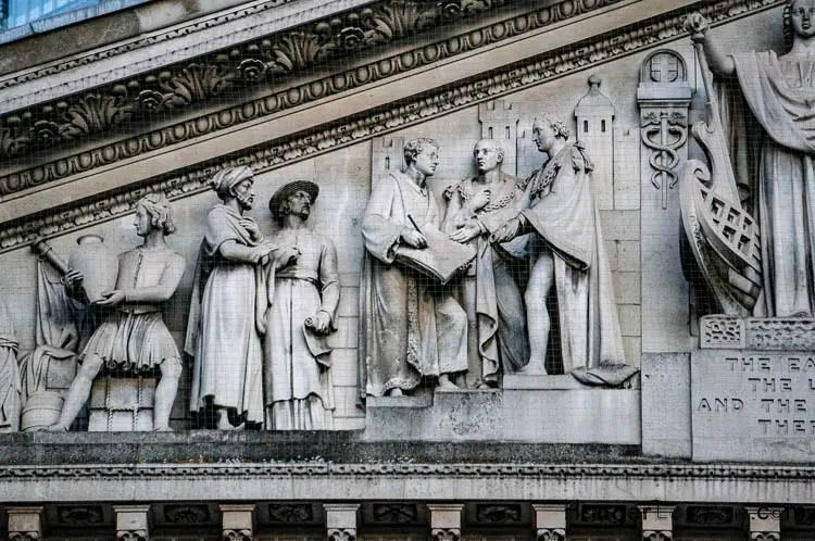 Royal Exchange Portico Pediment sculptured Frieze