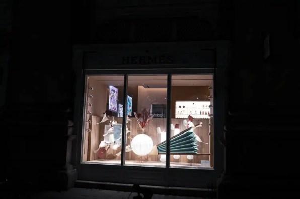 Hermés Royal Exchange Boutiques christmas shop window